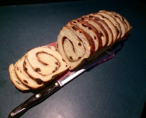 Cinnamon Swirl Loaf w Raisins